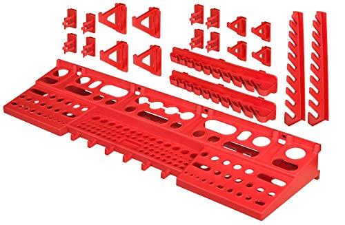 Werkzeugwand Halterung – 21 tlg. Werkzeughalter für Lochwand - Haken Set Werkstatt Werkzeuglochwand Lagersystem