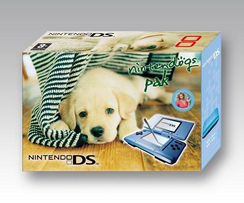Nintendo DS - Konsole, blau + Nintendogs Labrador