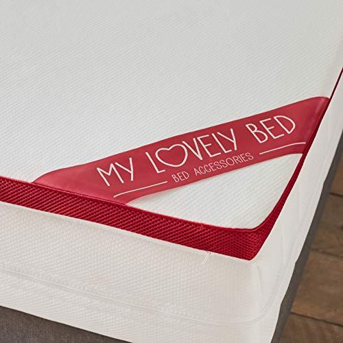 My Lovely Bed - SurMatelas Mémoire de Forme 140x190/200 cm - Epaisseur 5cm - Déhoussable - Mousse Viscoélastique Haute densité