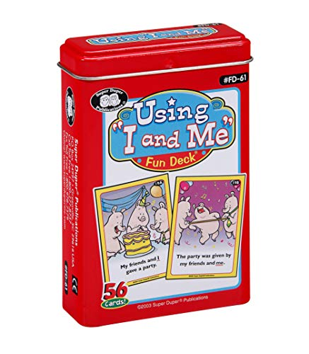 Super Duper Publications Using I and Me Fun Deck Flash Cards Educational Learning Resource for Children