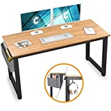 Cubiker Computer Desk 47' Sturdy Office Desk Modern Simple Style Table for Home Office, Notebook Writing Desk with Extra Strong Legs, Natural