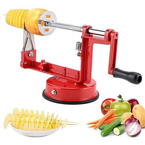 Ejoyous Apfelschäler Apfelentkerner Kartoffel Obstschäler & Schneider Obstschneider Apfelentkerner Schälmaschine (rot)