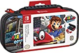 Officially Licensed Nintendo Switch Super Mario Odyssey Carrying Case – Protective Deluxe Travel Case with Adjustable Viewing Stand - Game Case Included