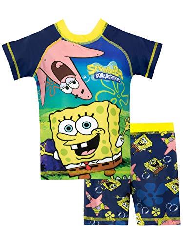 Bob Esponja Bañador de Dos Piezas para niño Spongebob Squarepants Azul 3-4 Años