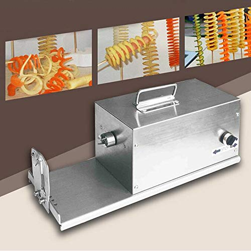 MEIJIQI Commercial Electric Potato Twister Tornado Slicer Machine Automatic Potato Spiral Cutter,110v60hz