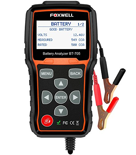 FOXWELL BT705 12V 24V Car Battery Tester Automotive 100-2000 CCA Battery Load Tester Auto Cranking...