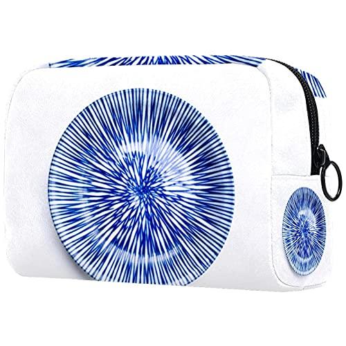 China blaues und weißes Porzellan blaues Saphirporzellan, Kosmetische Make-up Taschen Reisetaschen Tragbare Make-up Organizer Tasche Geldbörse Handtasche mit Reißverschluss