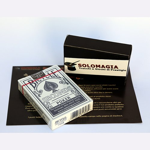 SOLOMAGIA 12 (dodici) Mazzi di Carte Bicycle Seconds - Mazzo Regolare Formato Poker - Dorso Blu