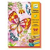 Djeco 599386031Tableaux à pailleter Motif Papillons