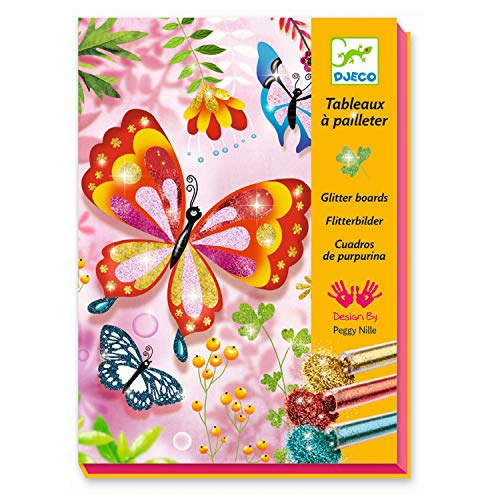 Djeco Kreativ Set Glitzerbilder Butterflies Glitter / Glitzerbilderset Schmetterlinge