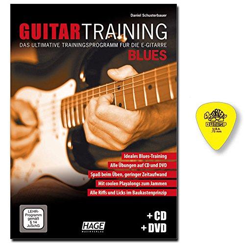 Guitar Training Blues mit CD, DVD - Gitarrenschule von Daniel Schusterbauer - Effektives Übungskonzept - Solo- und Rhythmusgitarre - mit Original Dunlop Plektrum