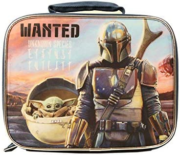 Star Wars Mandalorian Baby Yoda Lunch Box for Kids Insulated Unisex School Yoda Lunch Bag product image