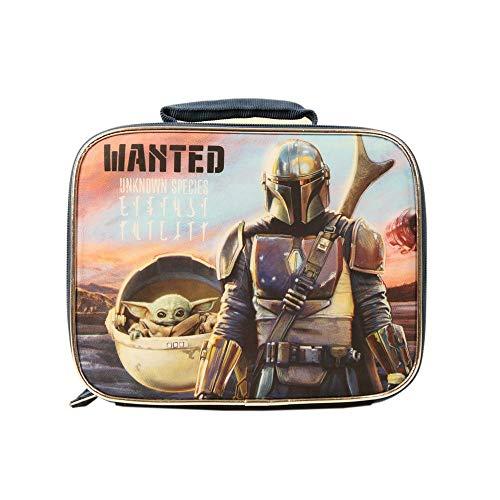 Star Wars Mandalorian Baby Yoda Lunch Box for Kids, Insulated Unisex School Yoda Lunch Bag