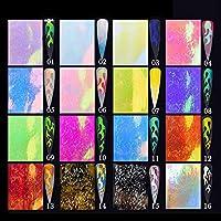 Kppto 混合色の3Dネイルステッカー蝶リーフパターン美しいデカールHolographicsデコレーションネイルアートアクセサリー (色 : 1Pc)