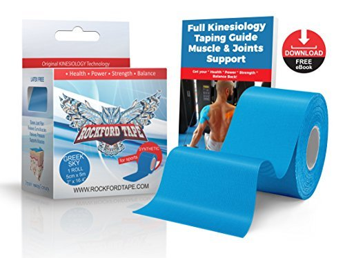 Rockford Kinesiology  Gold Edition Athletic Tape  Reinforced Synthetic Kinesiology Tape for Sports  for Athletic Trainers amp Physical Therapists Muscle Tape Support for Athletes  Waterproof