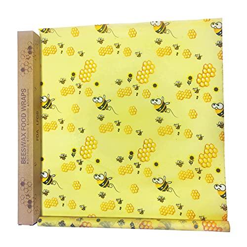 GZQF Paño de Beeswax: envasado en rollo de algodón orgánico, cera de abejas natural, respetuosa con el medio ambiente y saludable, reciclable.