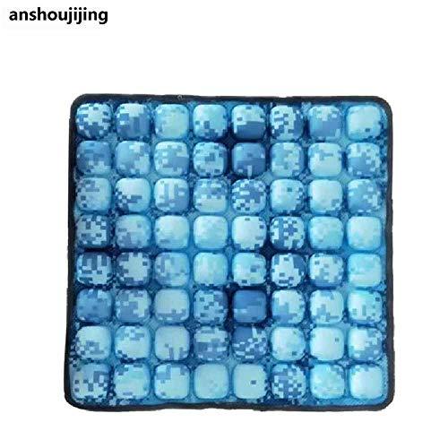 anshoujijing Draagbaar Opblaasbaar Zitkussen Overdrukventiel Luchtkussen Anti Doorligwonden Orthopedie Zitkussen Mat Voor Thuiskantoor Stoel Autostoel Blauwe camouflage