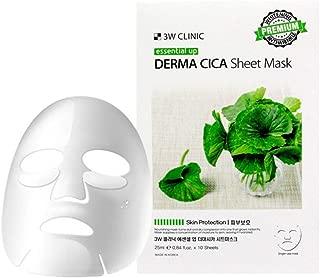 3W Clinic Essential Up Sheet Mask (25ml×10ea) Moisturizing, Nourishing, Skin Protection (Derma Cica)