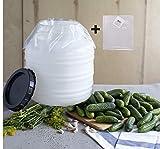 10L Gurkenfass+ 5 Folienbeutel, lebensmittelfass, Olivenfass,Deckelfass, Gärtopf, Gurkentopf,Sauerkrauttopf