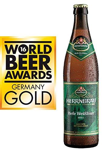 Birra HERRNBRAU WEISSBIER Weizen cl 50 x 20 bott. vetro - miglior al mondo 2016 - Medaglia d oro dalla World Beer Award 2016