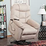 Harper & Bright Designs Elderly Lift Sofa Electric Recliner Chairs with Remote Control Soft Fabric Lounge