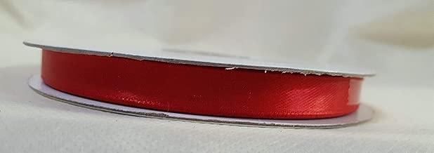 Nastro Rosso doppio raso h 10mm 50mt