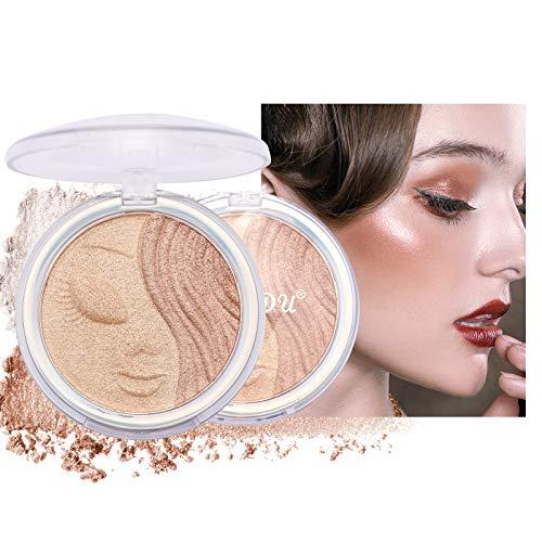 Mimore Professioneller Make-up Textmarker Shimmer Highlighter Highlight Powder Palette Langlebiges Shiny Illuminator Makeup Shimmer Illuminator Glühen für den Gesichtskörper (3)