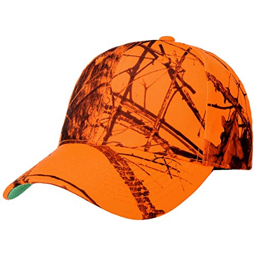 Lodenhut Manufaktur Mossy Oak Breakup Cap Basecap Baseballcap Jagdcap Curved Brim (One Size - orange)