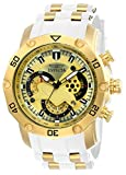 Invicta Men's Pro Diver Stainless Steel Quartz Watch with Silicone Strap, White, 26 (Model: 23424)