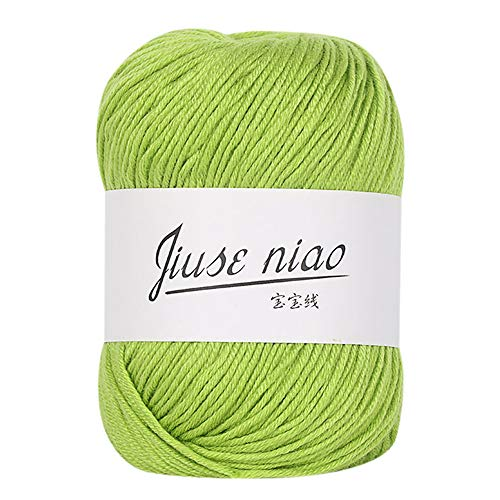 AGUIguo Classic Wool Yarn Soft Baby Cotton Yarn, 50g / Skein,for Kids Garments Scarves Hats and Craft Projects
