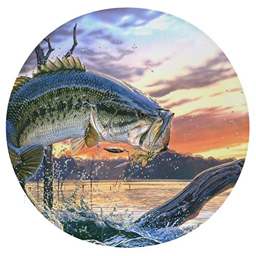 Cuscino da seduta in memory foam rotondo Big Fish cuscino super accogliente cuscino morbido per interni