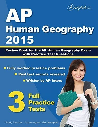 AP Human Geography 2015 Review Book for AP Human Geography Exam with Practice Test Questions product image