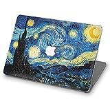 ZVStore Funda para MacBook Van Gogh Diseño de arte Funda protectora Funda rígida de plástico Pro para MacBook (Pro Retina 13 (A1502 y A1425), Noche estrellada)