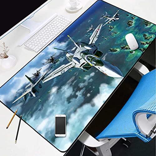 IYKTRFK Alfombrilla De Ratón para Juegos 800X300MM Avión De Mar Azul Base De Goma Antideslizante Adecuada para Jugadores Pc Y Portátiles XL Profesional Modelo Professional Gaming