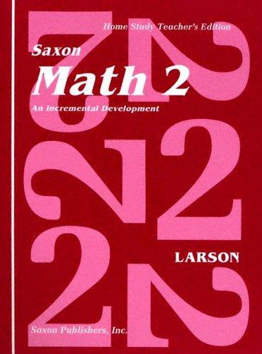 Saxon Math 2 Homeschool Teacher's Manual 1st Edition