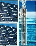 Bomba solar 24 V 3000 L/hora máx. 120 m de profundidad máx. Con controlador interno