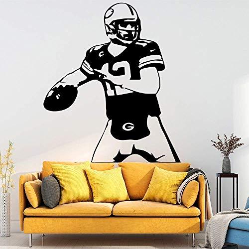 Spielen Rugby Tapete Wandaufkleber Dekoration Zubehör Für Wohnzimmer Wandtattoo Wohnaccessoires M 30 Cm X 34 Cm Schwarz