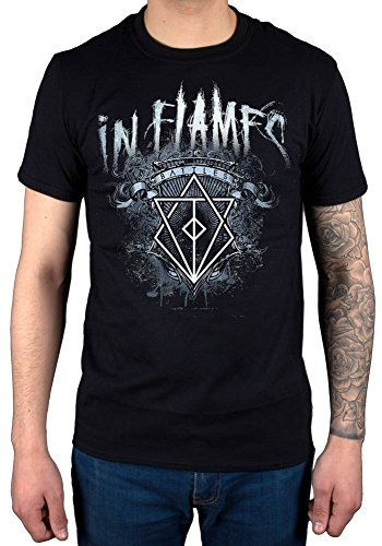Official in Flames Battles Crest T-Shirt Siren Charms Lunar Strain Clayman Colony Black
