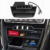 JOJOMARK for Honda Civic Sedan 10th Gen Central Console Storage Box Coins Trays Cards Organizer with USB Extension Cable for Honda Civic Sedan 2016 2017 2018 2019 2020 2021