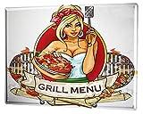 LEotiE SINCE 2004 Blechschild Wandschild 30x40 cm Vintage Retro Metallschild Retro Grill-Menü