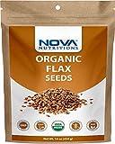 Nova Nutritions Certified Organic Whole Flax Seeds 16 OZ (454 gm)