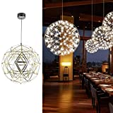 モダン Led ペンダントライト フィクスチャ美しい 球面 シーリングライト ランプ の ベッド ダイニング ルーム 装飾的です ハンギングランプ アールデコ 白色光-銀色 直径25cm