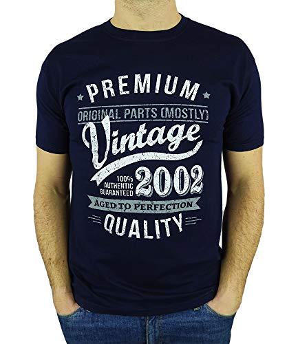 My Generation Gifts Vintage Year - Aged To Perfection - Regalo di Compleanno per 18 Anni Maglietta da Uomo Blu Marino M