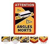 reflecto Hinweisschild 'Angles Morts' | 5 Anbringungsarten | LKW oder Bus-Motiv | entspricht RAL-Farbvorgaben | Aufkleber mit RapidAir®-Technologie | 250 x 170 mm | Wohnmobil (Bus-Motiv, Aufkleber)