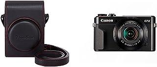 Canon DCC-1880 - Funda para cámara Canon Powershot G7X MK II negro + Canon PowerShot G7 X Mark II - Cámara digital compacta de 20.1 MP (pantalla de 3 apertura f/1.8-2.8 zoom óptico de 4.2x video full HD WiFi) color negro