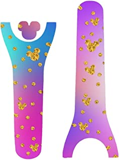 Vinyl Skin Decal Wrap Sticker Cover for the MagicBand 2 Magic Band 2 Gold Polka Dot Pink Blue Purple Backing
