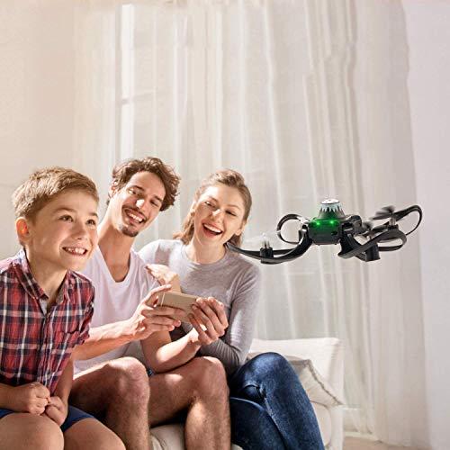 YAMMY Drone de Control de Gestos con 2.4G 6 Axis 480 HD FPV Cámara Auto WiFi FPV Video RC Quadcopter Altitude Hold Control Remoto sin Cabeza (Coche RC)