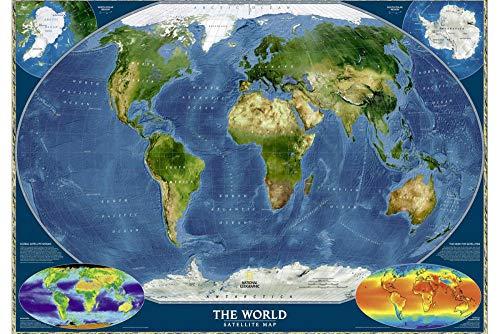 Rompecabezas 1000 Piezas, Mapa del Mundo De National Geographic 1500/1000/500/300 Piezas