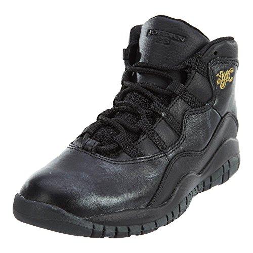 Nike - Pantofole a Stivaletto Unisex per Bambini, Nero (Black Grey Gold), 29,5 EU