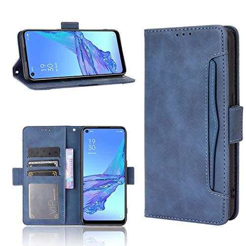 Wiko View 5/View 5 Plus Hülle [Brieftasche] [Klammerfunktion] [Kartenfächer] [Magnetic Flip Cover] Kompatibel mit Wiko View 5/View 5 Plus Smartphone(Blau)